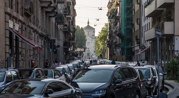 Mailand Via Alessandro Volta L'Ingresso del Cimitero Monumentale di Milano