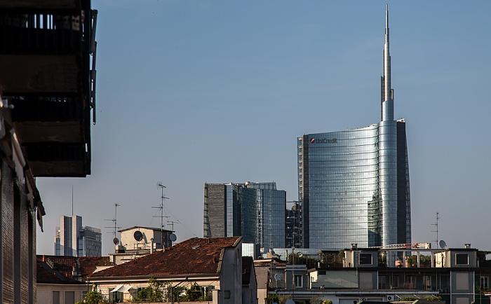 Mailand Blick aus dem Hotel Ritter: Centro Direzionale di Milano (Porta Nuova) - Torre Unicredit