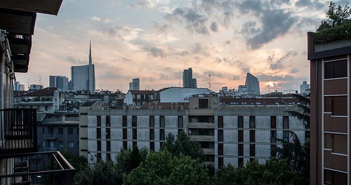 Mailand Blick aus dem Hotel Ritter: Centro Direzionale di Milano (Porta Nuova) Torre Unicredit