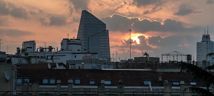 Mailand Blick aus dem Hotel Ritter: Centro Direzionale di Milano (Porta Nuova)