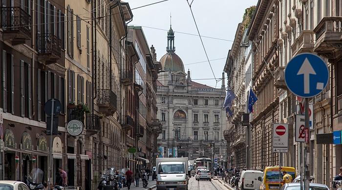 Mailand Via Broletto Palazzo delle Assicurazioni Generali