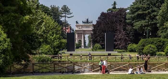 Mailand Parco Sempione Arco della Pace Piazza Sempione