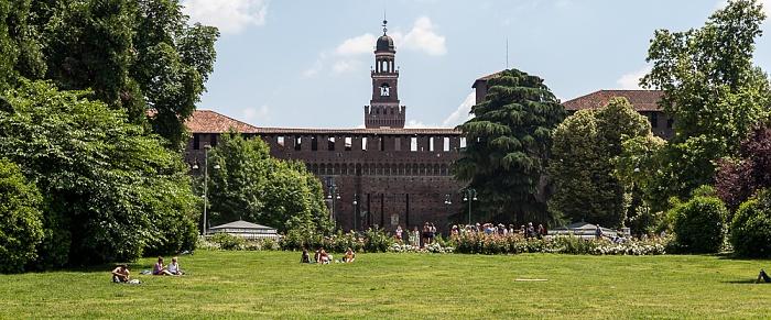 Mailand Parco Sempione, Castello Sforzesco
