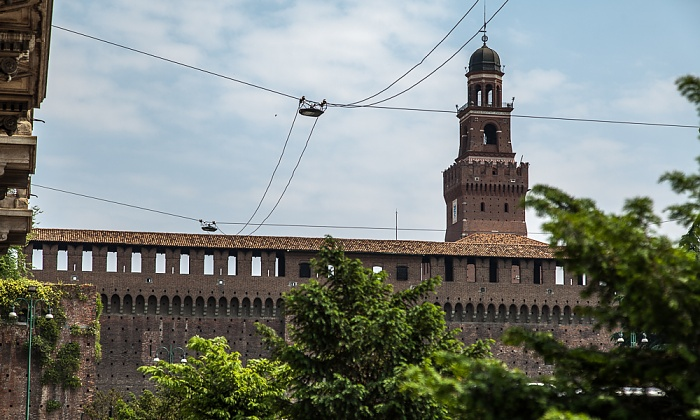 Mailand Castello Sforzesco mit dem Torre del Filarete