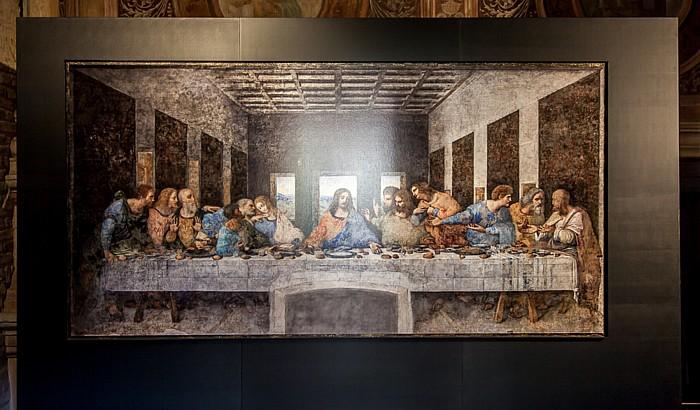 Mailand Chiesa di Santa Maria delle Grazie: Kreuzgang - Reproduktion von Das Abendmahl von Leonardo da Vinci