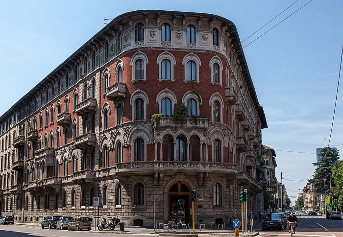 Mailand Via Giovanni Boccaccio / Piazza Giovine Italia