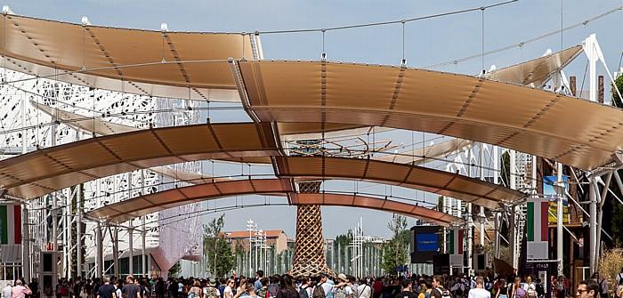 Mailand EXPO Milano 2015: Cardo Baum des Lebens EXPO 2015 Cardo EXPO 2015 Italienischer Pavillon EXPO 2015