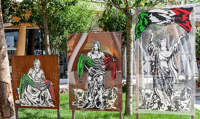 Mailand EXPO Milano 2015: Parco delle Sculture (Skulpturenpark) Padiglione Eataly - L'Italia s'è desta Parco delle Sculture EXPO 2015