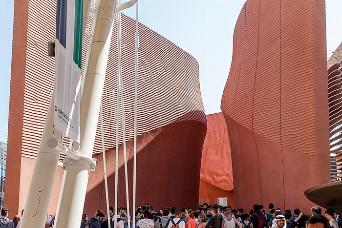 Mailand EXPO Milano 2015: Pavillon der Vereinigten Arabischen Emirate Pavillon der Vereinigten Arab. Emirate EXPO 2015