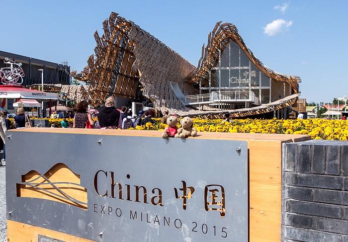 Mailand EXPO Milano 2015: Chinesischer Pavillon - Teddine und Teddy Chinesischer Pavillon EXPO 2015