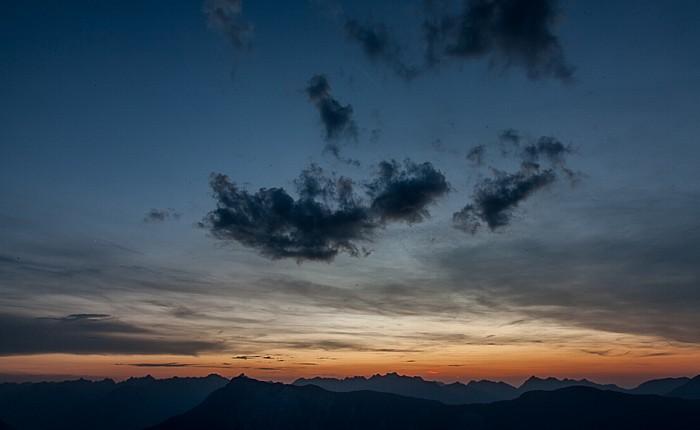 Hochoetz Blick von der Bielefelder Hütte: Tschirgant (unten) und Lechtaler Alpen