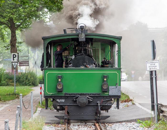 Prien am Chiemsee Seestraße: Dampflok der Chiemsee-Bahn