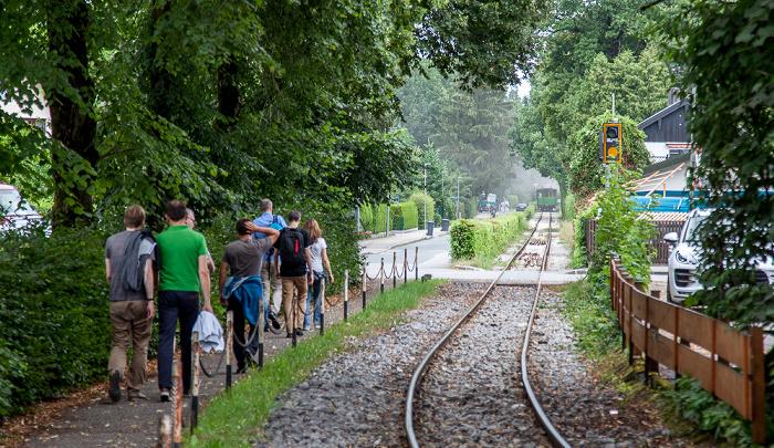Prien am Chiemsee Eschenweg: Dampflok der Chiemsee-Bahn