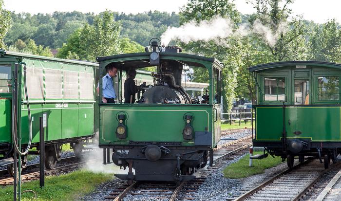 Prien am Chiemsee Prien-Stock: Dampflok der Chiemsee-Bahn