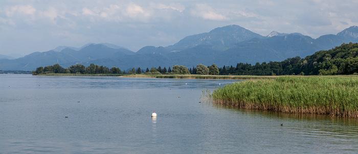 Chiemsee Herreninsel (Herrenchiemsee) und Chiemgauer Alpen