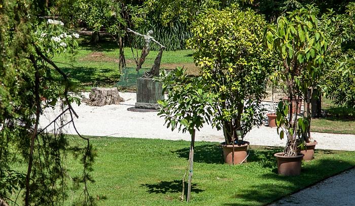 Blick vom Befestigungswall (Mura di Lucca): Orto Botanico Comunale di Lucca