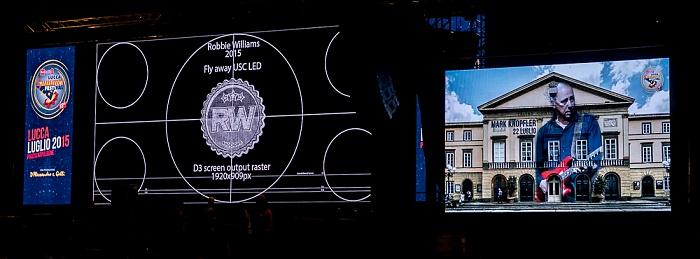 Centro Storico: Piazza Napoleone - Lucca Summer Festival: Nach dem Mark-Knopfler-Konzert