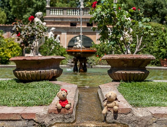 Lucca Centro Storico: Palazzo Pfanner (Garten) - Teddine und Teddy