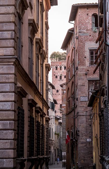 Lucca Centro Storico: Via Sant'Andrea, Torre Guinigi