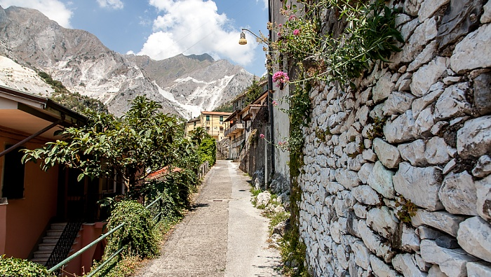 Carrara Apuanische Alpen: Colonnata Marmor-Steinbrüche