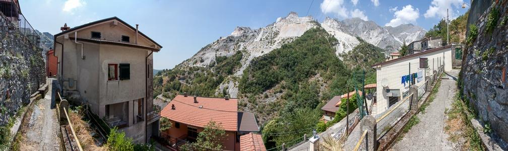 Carrara Apuanische Alpen: Colonnata und Marmor-Steinbrüche