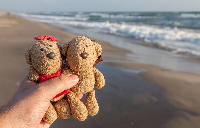Viareggio Versilia: Spiaggia della Lecciona, Mittelmeer - Teddine und Teddy