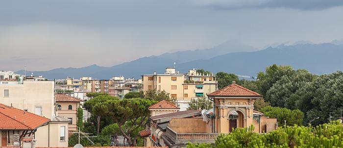 Viareggio Blick aus dem Hotel Marchionni Apuanische Alpen