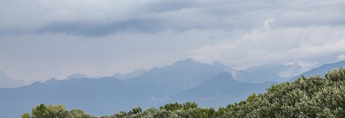 Viareggio Blick aus dem Hotel Marchionni: Apuanische Alpen