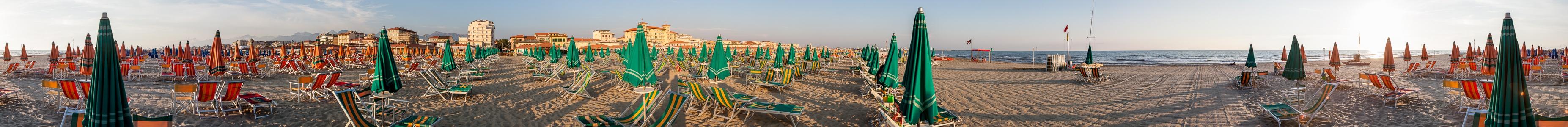 Viareggio Versilia: Strandbäder am Mittelmeer