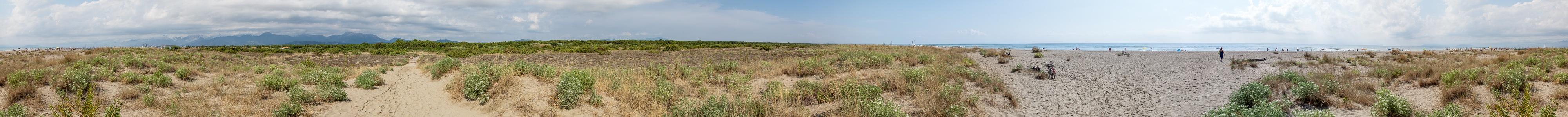 Viareggio Versilia: Dünen, Spiaggia della Lecciona und Mittelmeer Pineta di Levante