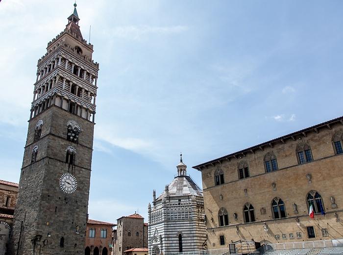 Centro Storico: Campanile del Duomo di Pistoia, Battistero di San Giovanni in corte, Palazzo Pretorio