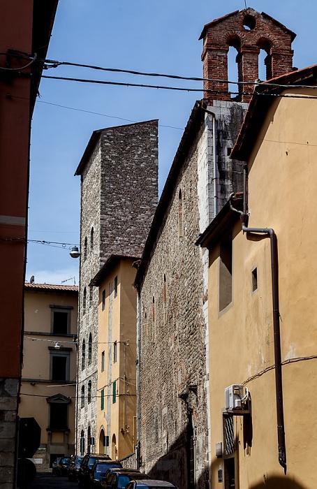 Pistoia Centro Storico: Via Tomba di Catilina Chiesa di San Salvatore Torre di Catilina