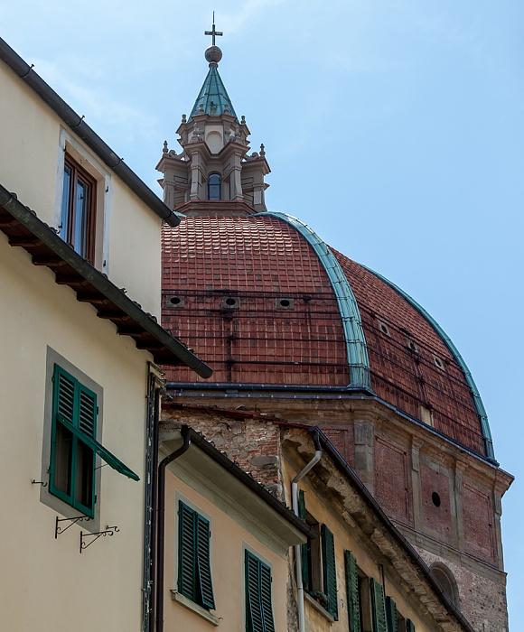 Pistoia Centro Storico: Via Vitoni Ventura - Kuppel der Basilica della Madonna dell'Umiltà