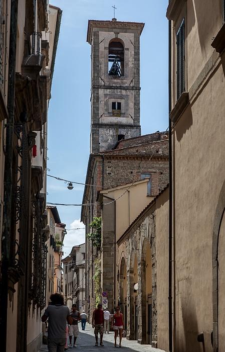 Pistoia Centro Storico: Via de' Rossi, Turm der Chiesa di Sant'Ignazio di Loyola (Chiesa dello Spirito Santo)