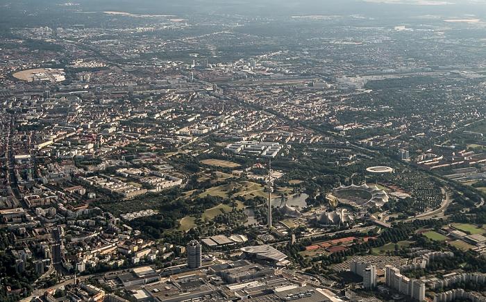 Ludwigsvorstadt-Isarvorstadt (links oben), Maxvorstadt, Neuhausen-Nymphenburg, Milbertshofen-Am Hart München 2015