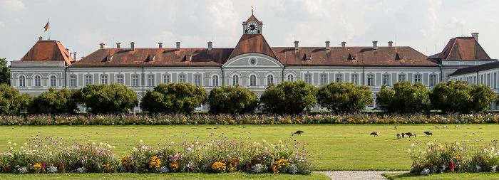 Schloss Nymphenburg: Südflügel (Marstallmuseum und Porzellanmuseum) und Schlossrondell München