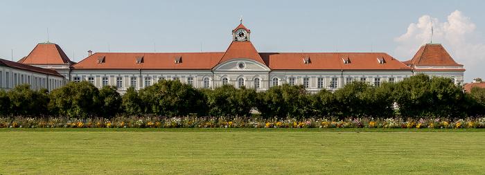 Schloss Nymphenburg: Nordflügel (Museum Mensch und Natur) und Schlossrondell München
