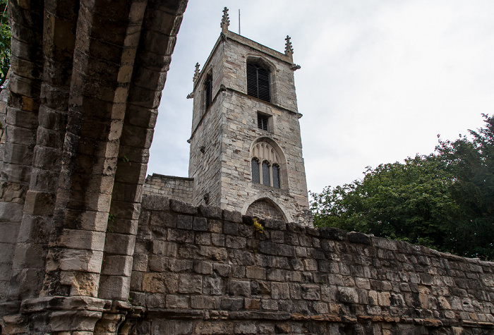Yorkshire Museum Gardens: St Mary's Abbey Walls, St Olave's Church