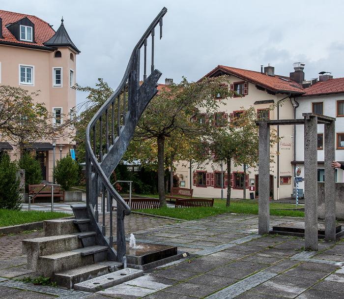 Murnau Nachbildung der Münter-Haus-Treppe