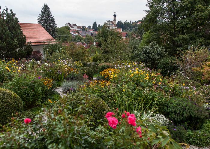 Murnau Garten des Münter-Hauses Katholische Pfarrkirche St. Nikolaus