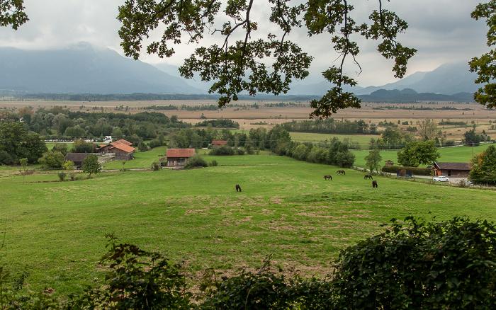 Murnauer Moos Blick vom Murnauer Höhenrücken