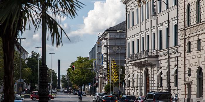 München Maxvorstadt: Brienner Straße Karolinenplatz Obelisk