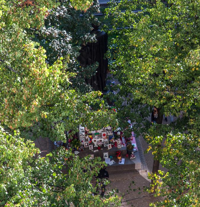 Blick von der Dachterasse des Hotels Bayerischer Hof: Promenadeplatz München