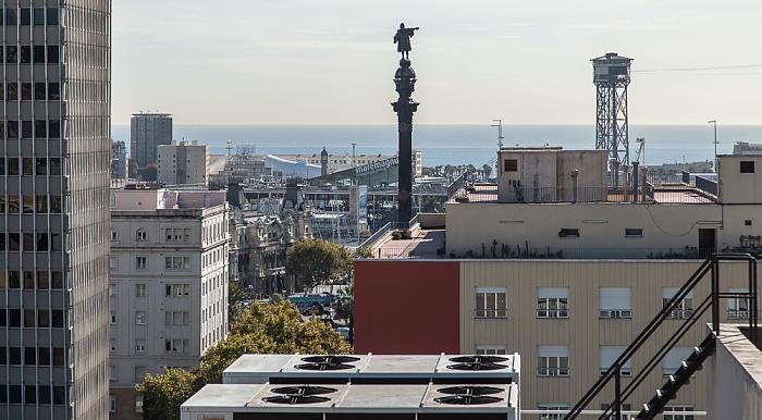 Blick vom Andante Hotel Barcelona 2015