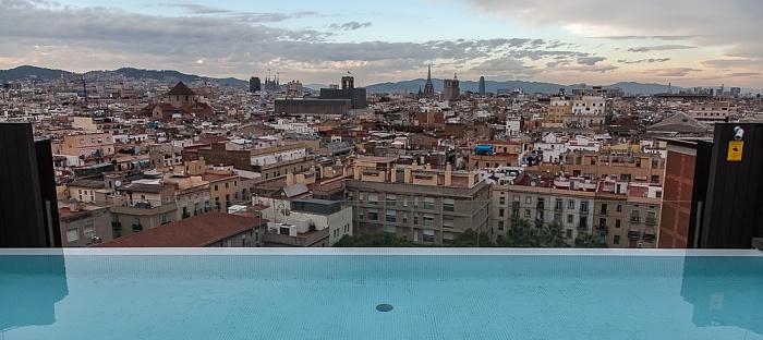 Blick vom Andante Hotel Barcelona
