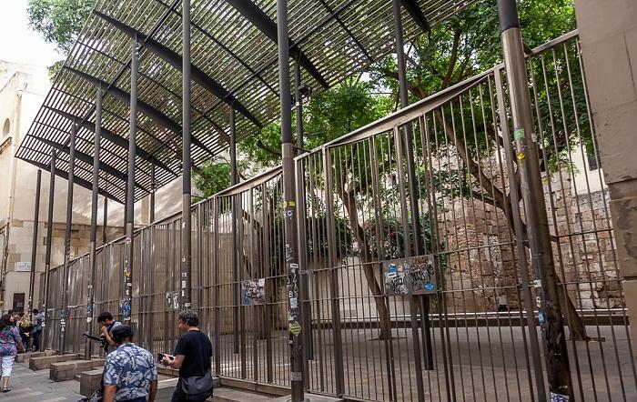 Ciutat Vella: Barri Gòtic - Carrer de la Palla: Muralla Romana Barcelona