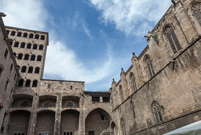 Ciutat Vella: Barri Gòtic - Plaça del Rei: Palau Reial Major und Capella de Santa Àgueda Barcelona