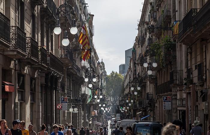 Ciutat Vella: Barri Gòtic - Carrer de Ferran Barcelona 2015
