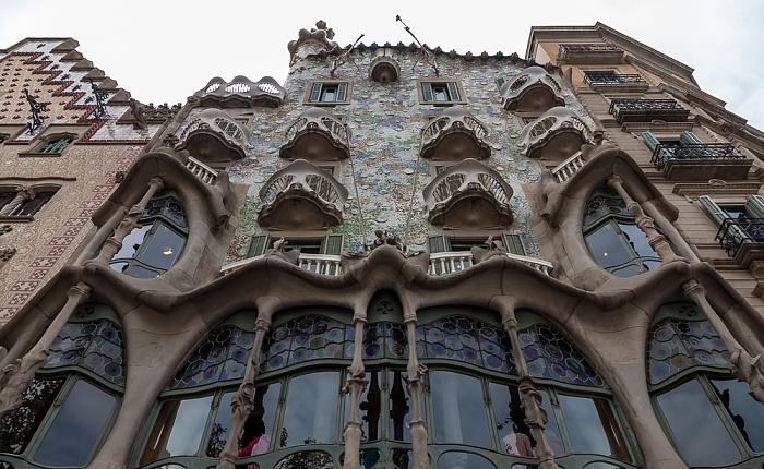 Eixample: Passeig de Gràcia - Mansana de la Discòrdia mit Casa Batlló Barcelona 2015