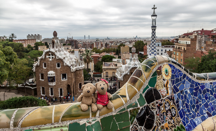 Barcelona Parc Güell: Teddy und Teddine